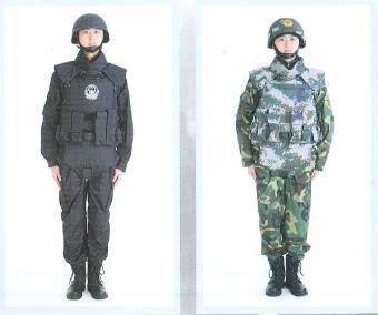 全防护金属插板防弹衣